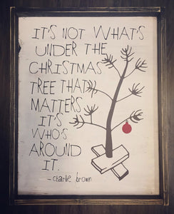 It's Not What's Under The Christmas Tree/Charlie Brown