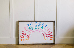 You Are Beautiful/Rainbow - Wood Sign