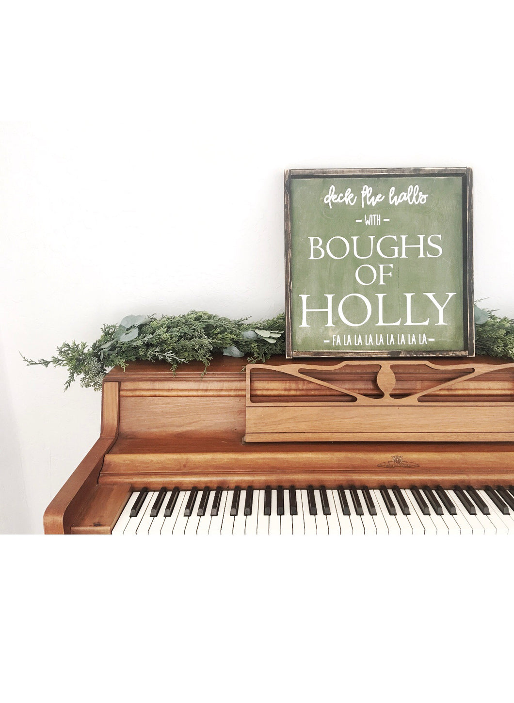 Deck the Halls With Boughs of Holly Wood Sign