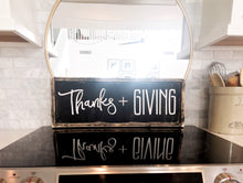 Thanks + Giving Wood Sign