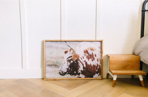 Rusty The Cow - Print or Wood Sign