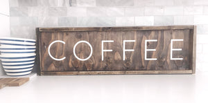 Coffee (block writing)- Wood Sign