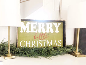 Merry Little Christmas Wood Sign