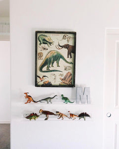Dino paper wood sign