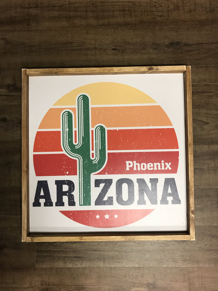 Phoenix Arizona Wood Sign