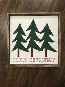 Merry Christmas - Pine Trees