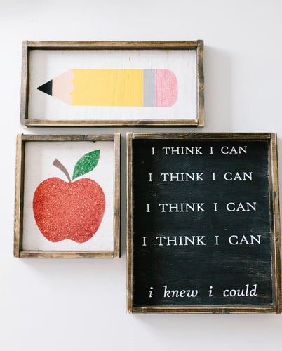 I Think I Can I Think I Can - Wood Sign