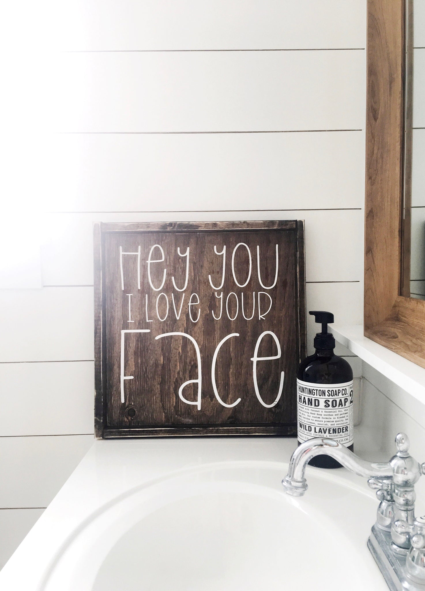 Wall Colour Inspiration: Hey You I Love Your Face Wood Sign