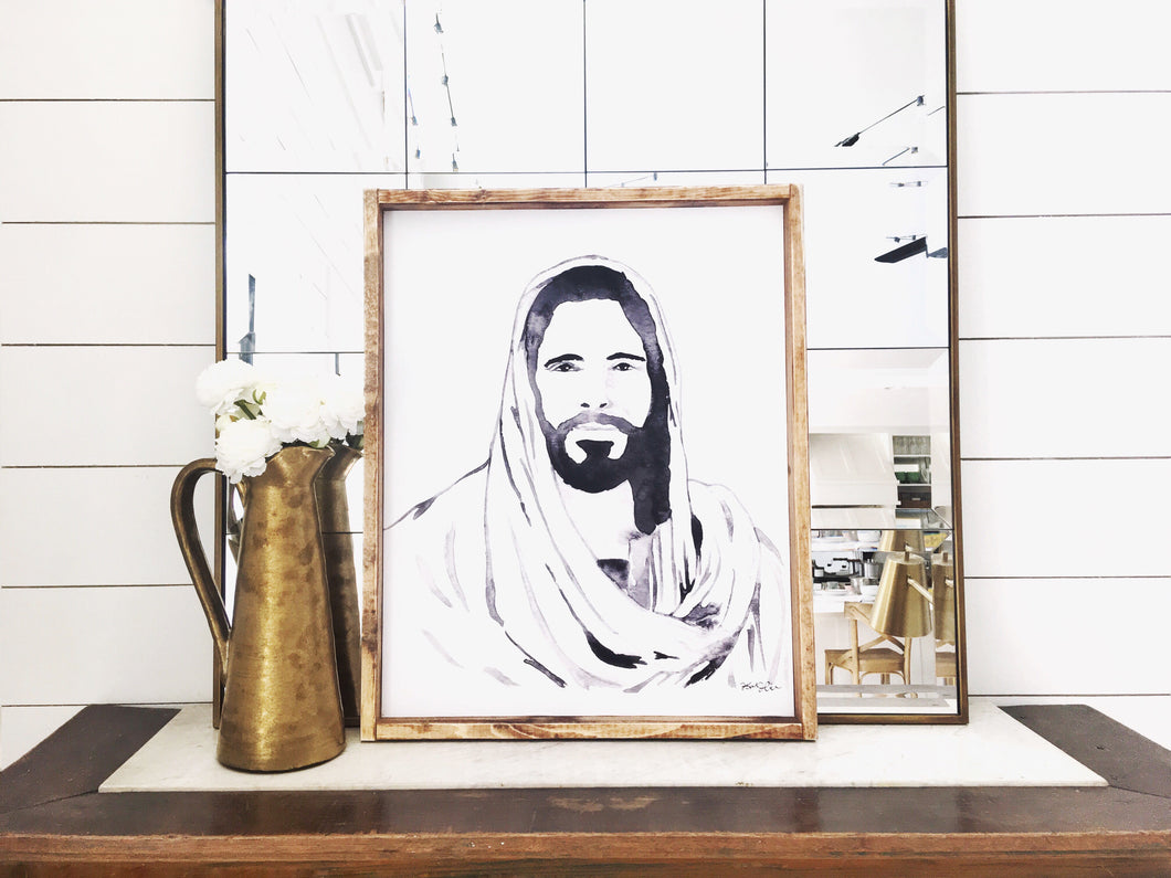 Jesus- Print or Wood Sign