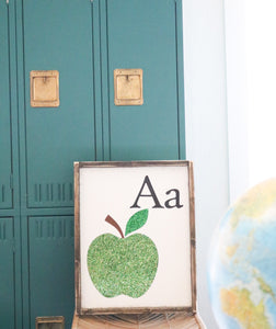 A Is For Apple Wood Sign