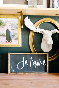 Je t'aime - Wood Sign