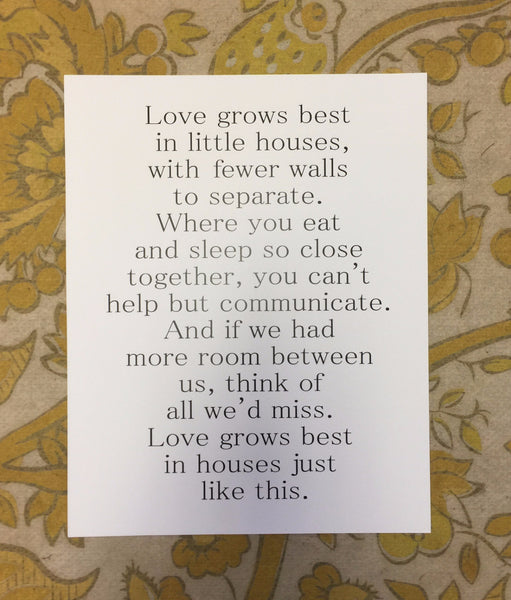 Love Grows Best - Paper Print