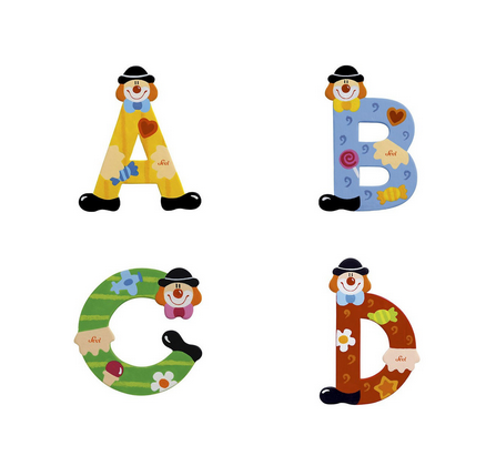 SEVI Clown Wooden Letters