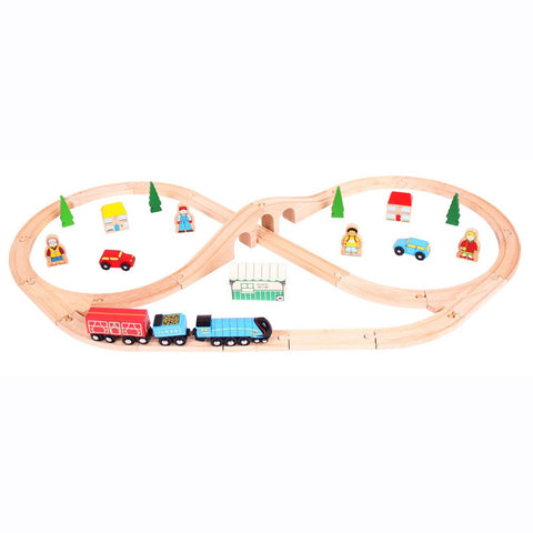 Mallard Wooden Train Set | 40 Piece