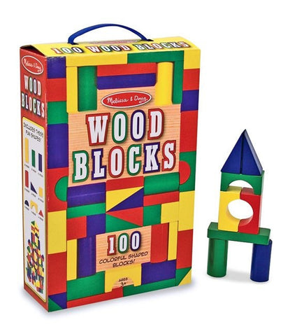 100 Wooden Blocks by Melissa and Doug 10481