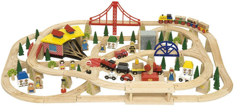 Freight Wooden Train Set | 130 Piece