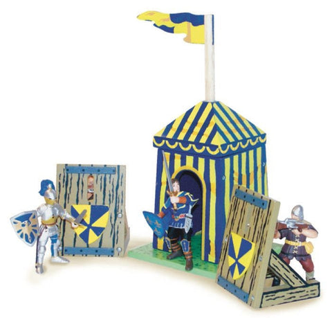 Blue Siege Tent with Shields TV359