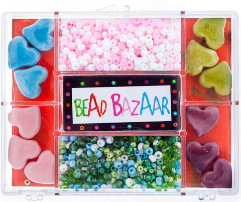 Fancy Glass Bead Kit - Hearts, Etc BBZ779