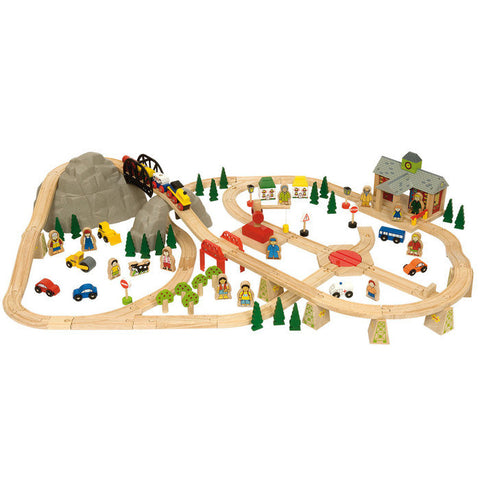Mountain Wooden Train Set | 112 Piece