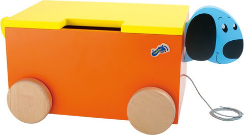 Doggie Toy Chest on Wheels