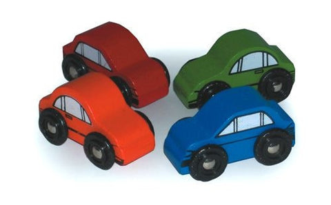 BigJigs Cars for Rail Sets | Pack of 4