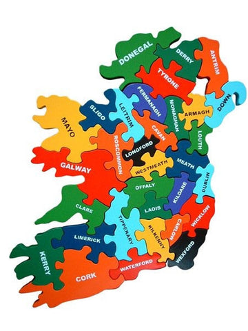 Map of Ireland - Alphabet Jigsaws