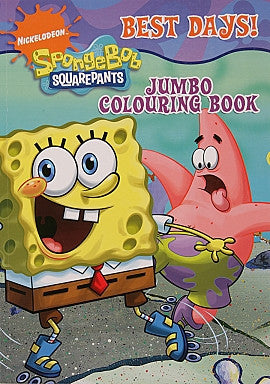 Best Days! SpongeBob Squarepants Jumbo Colouring Book