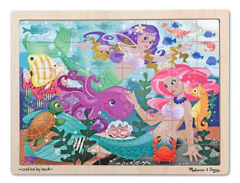Mermaid Fantasea Wooden Jigsaw Puzzle (48 pc) - Melissa and Doug 12911
