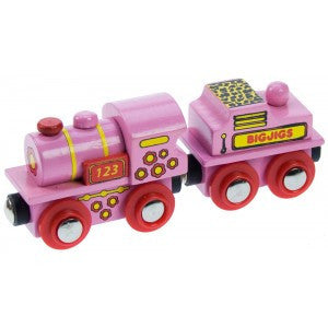 BigJigs Rail Pink 123 Engine
