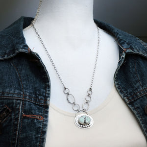 Poseidon Variscite Mint Green Necklace