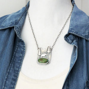 Moose in the Mountains Royston Turquoise Necklace