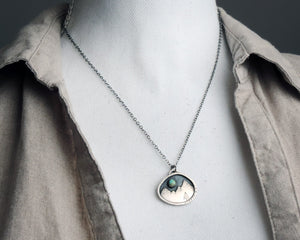 Organic Turquoise Mountain Necklace