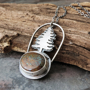 Pine Tree Sky Song Turquoise Necklace