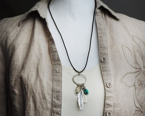 Feather Breathe Charm Necklace