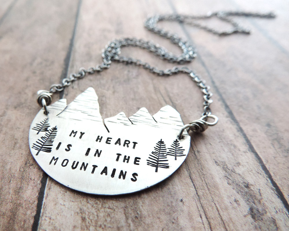 sterling silver mountain peaks necklace a twist of whimsy. Black Bedroom Furniture Sets. Home Design Ideas