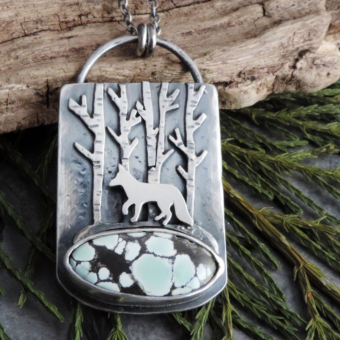 Fox in the Aspens Poseidon Variscite Necklace