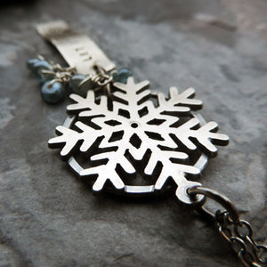 Let It Snow Silver Snowflake Necklace