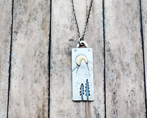 Moonrise Over Mountains Necklace