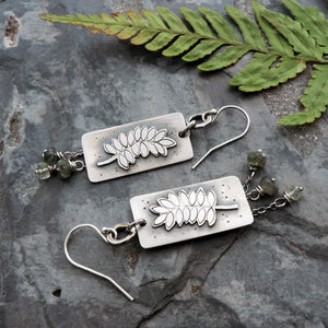 nature inspired sterling silver fern earrings