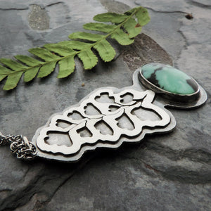 botanical jewelry with variscite