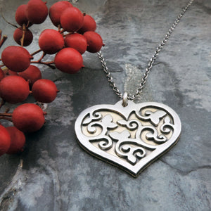 Valentine gift heart necklace