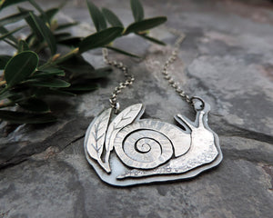 handmade sterling silver snail jewelry