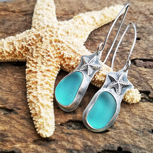 ocean earrings with starfish