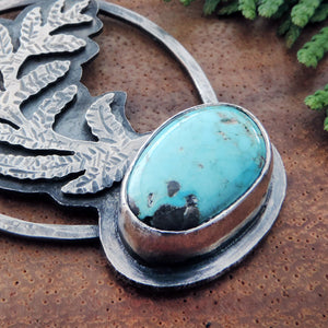 nature inspired necklace with turquoise