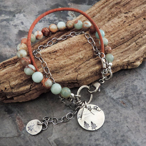 earthy bracelet for hiker and mountain woman