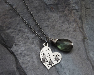 Heart of Nature Charm Necklace