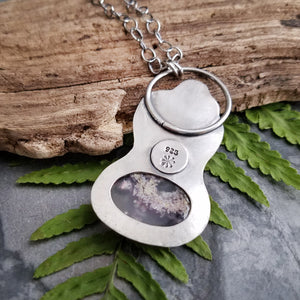 Irises Indonesian Moss Agate Necklace