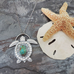 sterling silver sea turtle ocean jewelry