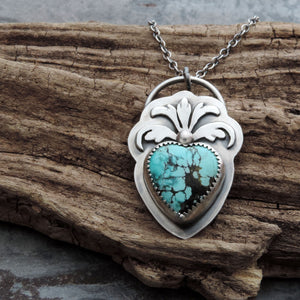 Flourish Hubei Turquoise Heart Necklace