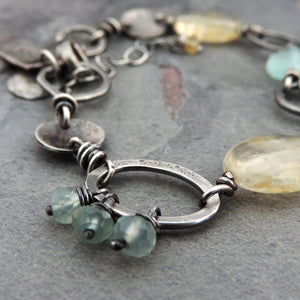 Citrine and Aqua Chalcedony Dream Bracelet